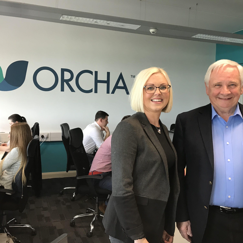 Brian O'Connor, Non Executive Chairman, with Liz Ashall-Payne, ORCHA CEO