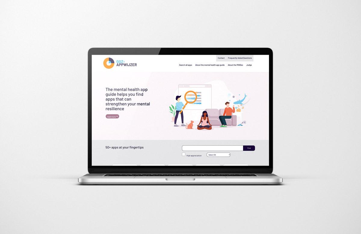 GGZ website on laptop screen
